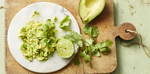 avocado with lime