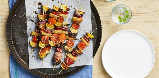 Honey Soy Vegetable Skewers