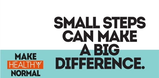 Text - Small steps can make a big difference