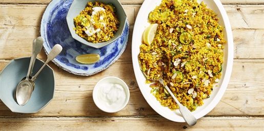 Moroccan spiced cauliflower couscous
