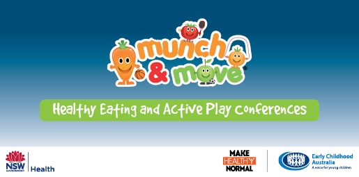 Munch and move healthy eating and active play conference banner