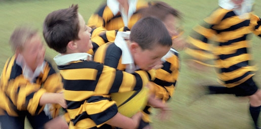 kids playing rugby
