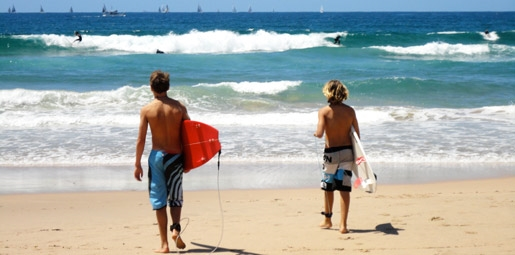boys going for surf