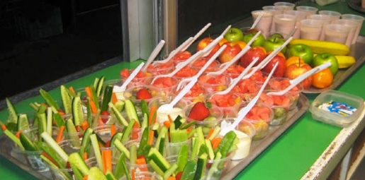 healthy food being served at canteen