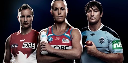 Three ambassadors from AFL, netball and rugby league