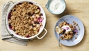 Apple and Blueberry Crumble