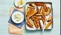 Herb and Garlic Sweet Potato Wedges with Yoghurt Dip