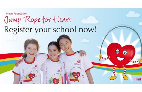 Jump Rope for Heart registration banner