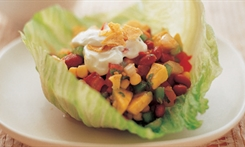 Avocado and Bean Salad in Lettuce Baskets