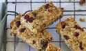 Cranberry and apricot muesli bars