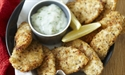 Oven baked chicken crunchies with lemon mayo