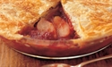 Rhubarb and Apple Pie with Vanilla Custard